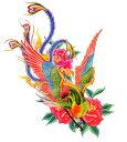 (ファンタジー) TheFantasy タトゥーシール タトゥーシール 鳳凰 バラ 肩・胸用 mqc09 【大型・A4】