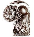 (ファンタジー) TheFantasy タトゥーシール タトゥーシール 釈迦様 仏像 肩・胸用 mqc23 【大型・A4】