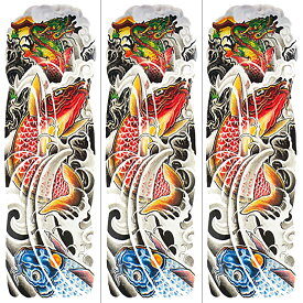 (ファンタジー) TheFantasy タトゥーシール タトゥーシール 肩から手首 鯉 龍門 qb3043【特長・3枚セット】