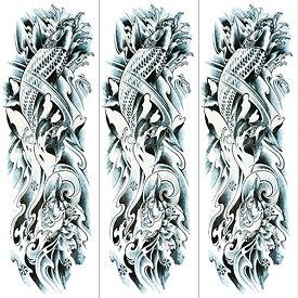 (ファンタジー) TheFantasy タトゥーシール タトゥーシール 肩から手首 鯉 qb3045【特長・3枚セット】