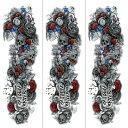 (ファンタジー) TheFantasy タトゥーシール タトゥーシール 肩から手首 髑髏 薔薇 tqb005【特長・3枚セット】