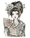 [KING HORSE (キングホース)] タトゥーシール 和服美女 [レギュラーサイズ] rt16