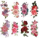 [THE FANTASY (ファンタジー)] タトゥーシール 花 [8種8枚]set051