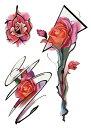 (ファンタジー) TheFantasy タトゥーシール タトゥーシール 薔薇 th165【中型・A7】