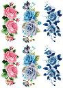 [THE FANTASY ファンタジー] タトゥーシール 薔薇 花 [通常サイズ・3種6枚] ymp6007