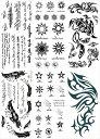 [THE FANTASY ファンタジー] タトゥーシール トライバル 英文字 月 太陽 鳳凰 [通常サイズ・6種6枚] ymp6011