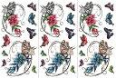 (ファンタジー) TheFantasy 【3枚セット】 タトゥーシール 蝶と花 ymx262 【レギュラー】
