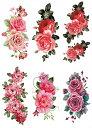 [THE FANTASY (ファンタジー)] タトゥーシール 薔薇 花 バラ 蝶 [6種6枚] ymx6021