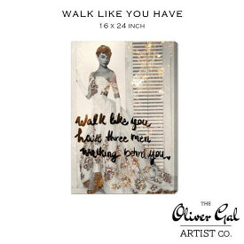 【OliverGal】オリバー・ガル/40cm×60.9cm/アート 絵画 インテリア雑貨/オードリーヘップバーン/絵/WALK LIKE YOU HAVE 10395 16×24インチ オリバーガル