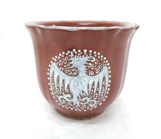 Bonsai ◆ old Jingdezhen Ming tea glaze ◆ Nanjing coral glaze circle flower