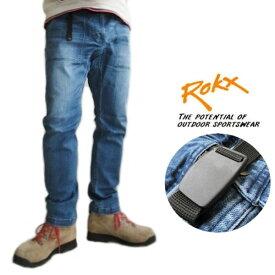 ROKX /ロックス【デニムファティーグパンツ】DENIM FATIGUE PANT ストレッチデニム RXMS191008 ミッドユーズドウォッシュ