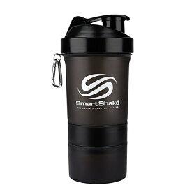 スマートシェイク Smart Shake 600ml ブラック シェイカー プロテインシェイカー プロテイン ホエイプロテイン 筋トレ 筋肉 部活 ジム ボディビル