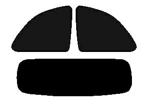 【エントリーでポイント9倍】フィアット500C(オープントップ)31212H21.7〜高品質、高精度、高透明カット済みカーフィルム(スモーク)