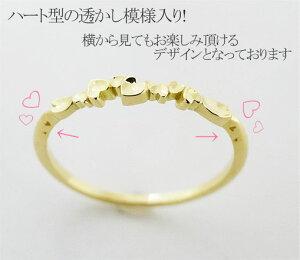 指輪K18ダンスハートリングオリジナルラッピング無料