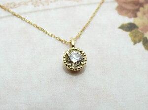 18金ダイヤモンドシンプルペンダントネックレス0.37ctプチペンダント普段使い普段づかい送料無料
