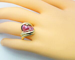 リング指輪K1818金ピンクサファイアダイヤモンドアメリカブランドストレルマンズStrellman's