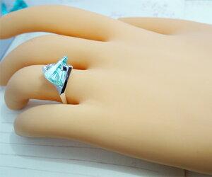 リング指輪K18WG18金グリーンスピネルアメリカブランドストレルマンズStrellman's