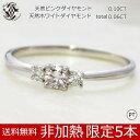 リング レディース PT900 ピンク ダイヤモンド 0.10CT 特大 非加熱 プラチナ シンプル 指輪【楽ギフ_包装】