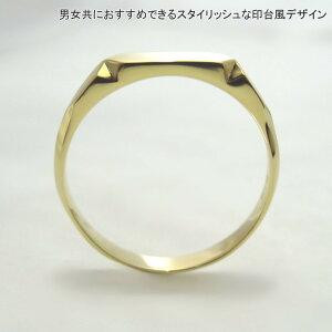 K1818金リング指輪印台風刻印可レディースメンズシンプル【楽ギフ_包装】