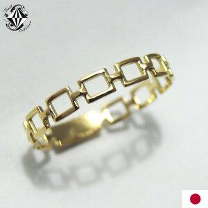 リングレディース18金チェーンChainデザイン指輪K18ピンクホワイトゴールドYGPGWG【楽ギフ_包装】【楽ギフ_メッセ入力】
