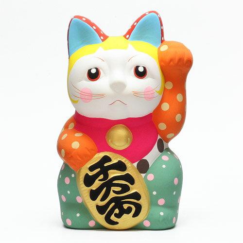 DOTS MANEKI NEKO ORANGE (ドット 招き猫 オレンジ) 【AS】
