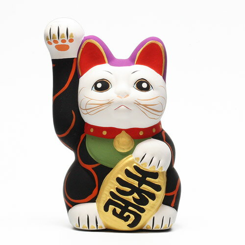 KARAKUSA MANEKI NEKO BLACK (唐草 招き猫 ブラック 黒唐草) 【AS】