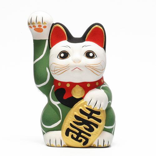 KARAKUSA MANEKI NEKO GREEN (唐草 招き猫 グリーン 緑唐草) 【AS】