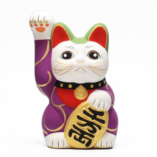 KARAKUSA MANEKI NEKO PURPLE (唐草 招き猫 パープル 紫唐草) 【AS】