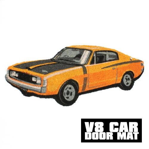 ■ V8 CAR DOOR MAT COUPE YELLOW2 (V8 カー ドア マット クーペ イエロー2) 【AS】