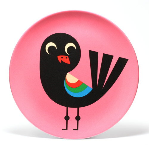 ■ OMM DESIGN MELAMINE PLATE PINKBIRD (OMM デザイン メラミン プレート ピンクバード) 【AS】