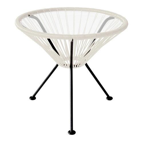 ■ ACAPULCO SIDE TABLE WHITE (アカプルコ サイド テーブル ホワイト) 【送料無料】 【ポイント10倍】