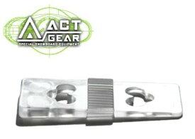ACT GEAR アクトギア ビンディング 3度カントプレート ポリカ [PL-8] CLEAR ALPAIN アルペン アルパイン BINDING バインディング SNOWBOARDS スノーボード 【あす楽対応】