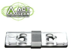 ACT GEAR アクトギア ビンディング 3mmリフトアッププレート ポリカ [PL-9] CLEAR ALPAIN アルペン アルパイン BINDING バインディング SNOWBOARDS スノーボード 【あす楽対応】
