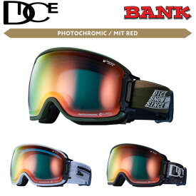 21-22 DICE ゴーグル ダイス BANK バンク BK15190 [PHOTOCHROMIC /MIT RED] 調光レンズ JAPANFIT スノーボード