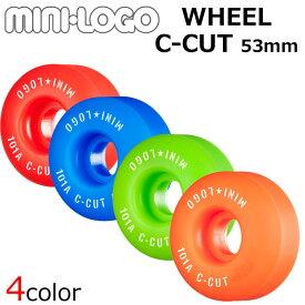 MINI LOGO 【ミニロゴ】 WHEELS ウィール C-CUT 53mm 101A 4個1セット スケボー ウィール スケートボード sk8 skateboard【あす楽対応】