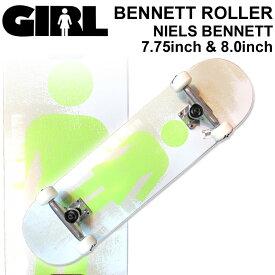 GIRL ガール スケートボード コンプリート BENNETT ROLLER NIELS BENNETT ニールス・ベネット [GL-120] [GL-121] 蓄光 グロー 完成品 スケボー SKATE BOARD COMPLETE【あす楽対応】