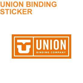 UNION ユニオン ビンディング ステッカー LOGO ロゴ [Lサイズ] スノーボードステッカー【あす楽対応】