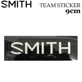 [メール便対応] SMITH スミス ステッカー TEAM STICKER ステッカー 9cm [BLK/WHT] シールタイプ スノーボード アクセサリー【あす楽対応】
