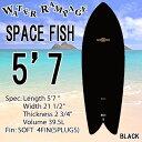 [送料無料] WATER RAMPAGE ウォーターランページ サーフボード SPACE FISH 5'7 BLACK ショートボード ソフトボード フィッシュ スポンジボード