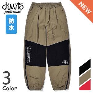 DIMITO LINE BLOCK PANTS男女共用 ライン ブロック パンツ スノーボード ウェア 防水 通気性 3色 ブラック ベーシュ レッド