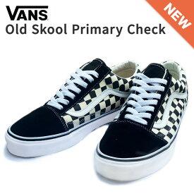 Vans shoes Old Skool Primary Check ヴァンズ シューズ オールドスクール キャンバス 通勤 通学 カジュアル メンズ レディース 定番 シンプル プライマリー チェック ブラック サイズ US4.5-US11.0 22.5cm-29.0cm 送料無料