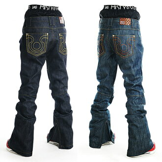 MISTYEYED real denim snowboard pants powder guarded * color: black denim hosomi silhouette * limited model 41% off fs3gm