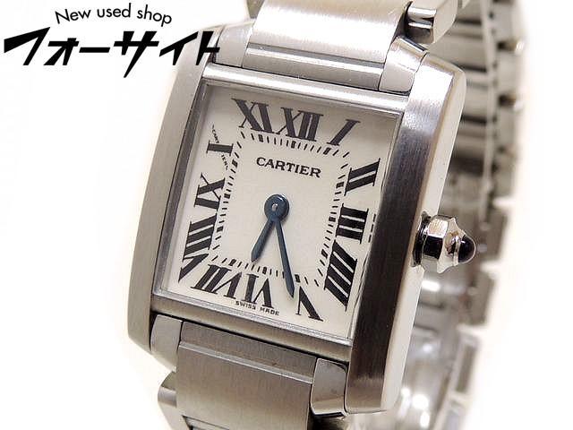Cartier カルティエ■タンクフランセーズ SM ホワイト 文字盤 レディース クォーツ 時計□30C