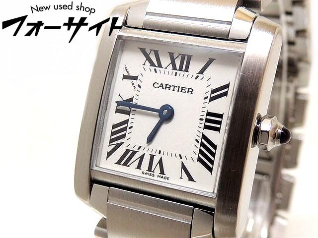 2018年3月 コンプリートサービス済み Cartier カルティエ■タンクフランセーズ SM ホワイト 文字盤 レディース クォーツ 時計□29J