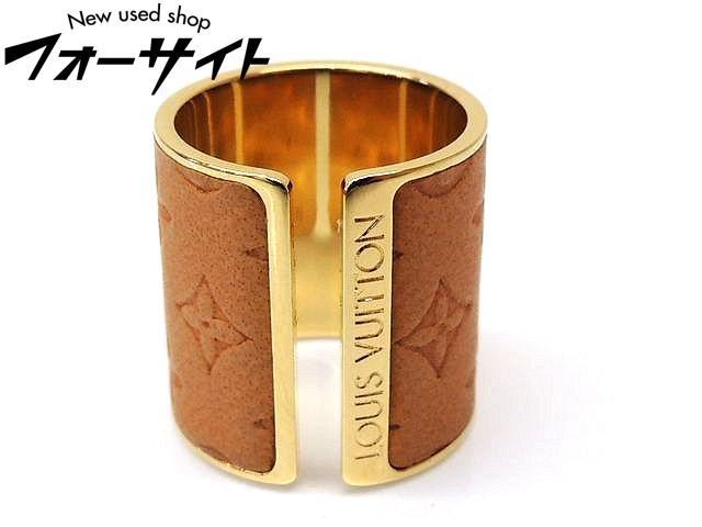Mサイズ 8号 Louis Vuitton ヴィトン■MP1654 セット・リング・スキン モノグラム柄 ゴールドカラー リング 指輪□30C