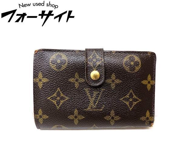 Louis Vuitton ヴィトン■M61674 ヴィエノワ モノグラム がま口 2つ折り コンパクト 財布□30C