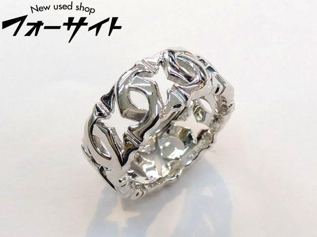 新品同様 カルティエ☆10号(50)アントルラセ リング K18 WG 指輪 ホワイトゴールド∞レディース Cartier 30D