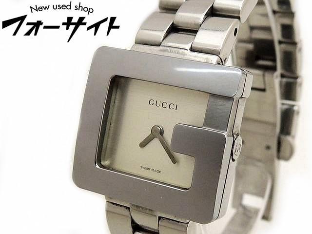 GUCCI グッチ■3600L Gフェイス ステンレス シルバー 文字盤 レディース クォーツ 時計□30D