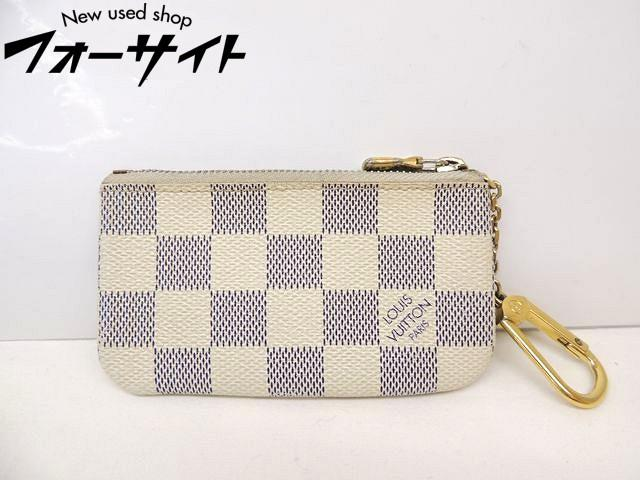 Louis Vuitton ヴィトン■N62659 ポシェット クレ ダミエ アズール キーリング 付き コインケース 小銭入れ 財布□30A
