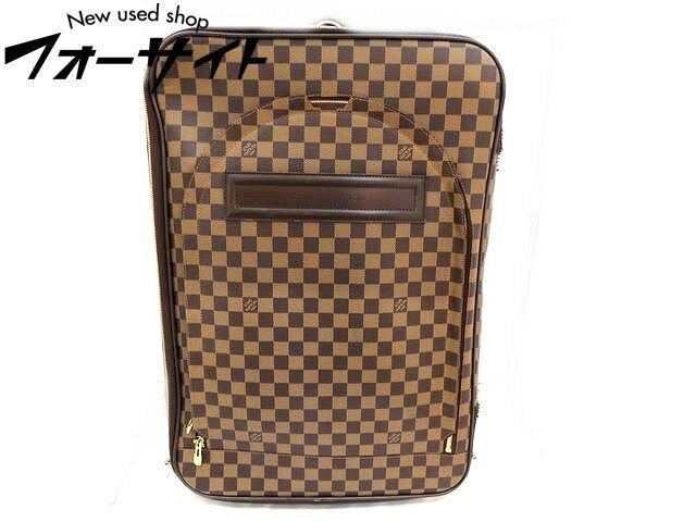 Louis Vuitton ヴィトン■N23294 旧型 ペガス55 ダミエ キャリーケース 旅行鞄 ※パーツ取れあり□30J